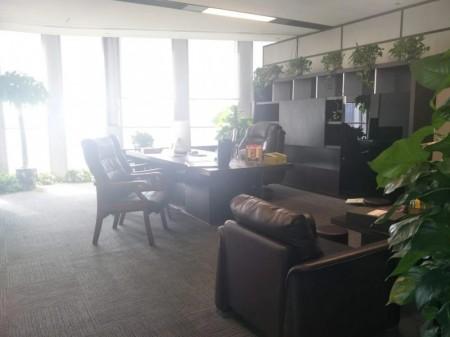 新地标 绿地中心双子塔443平精装全套家具低价出租