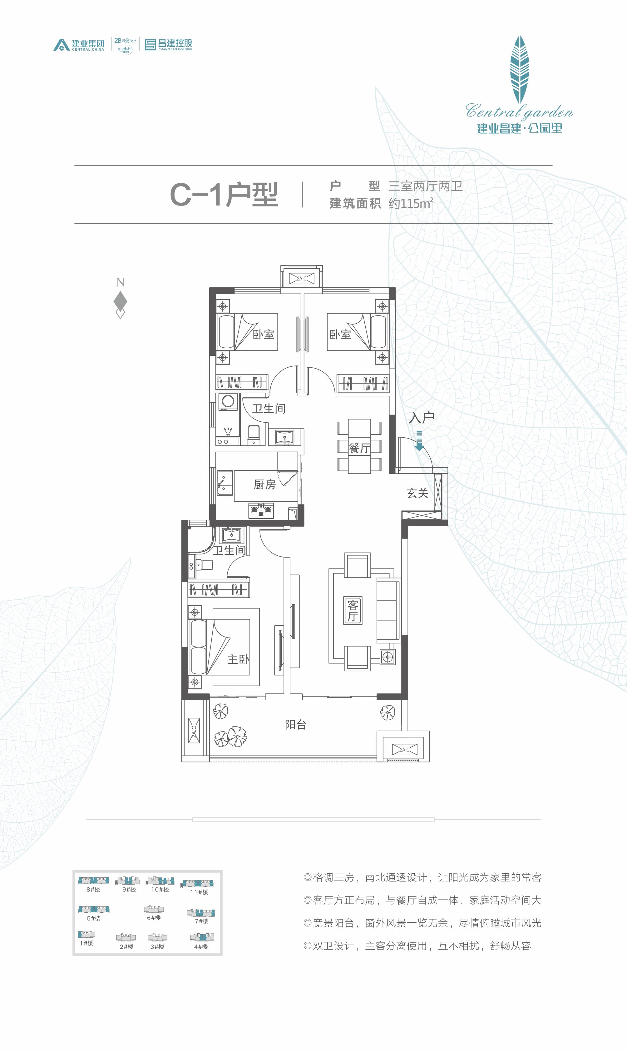 C-1建业昌建·公园里户型图