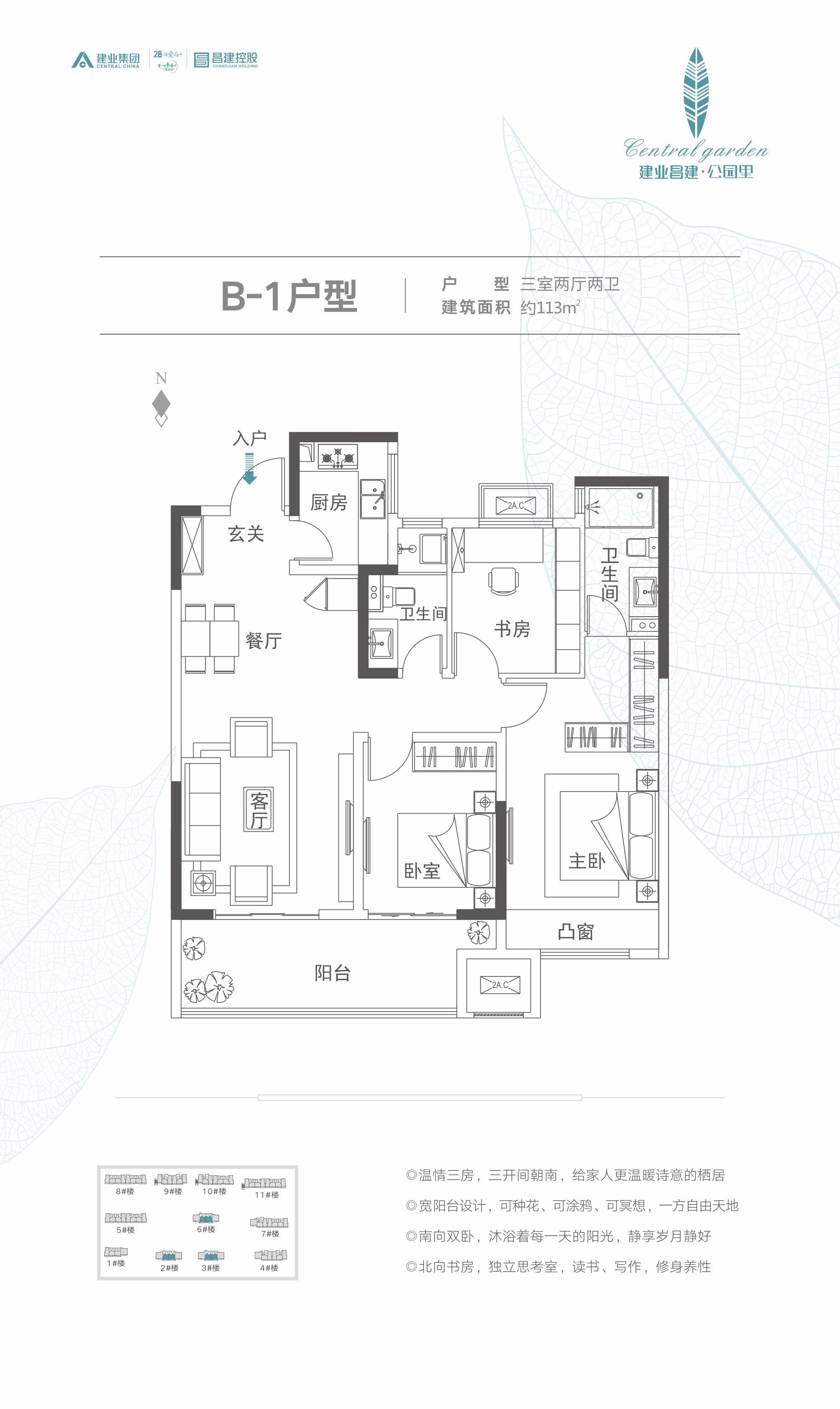 B-1建业昌建·公园里户型图