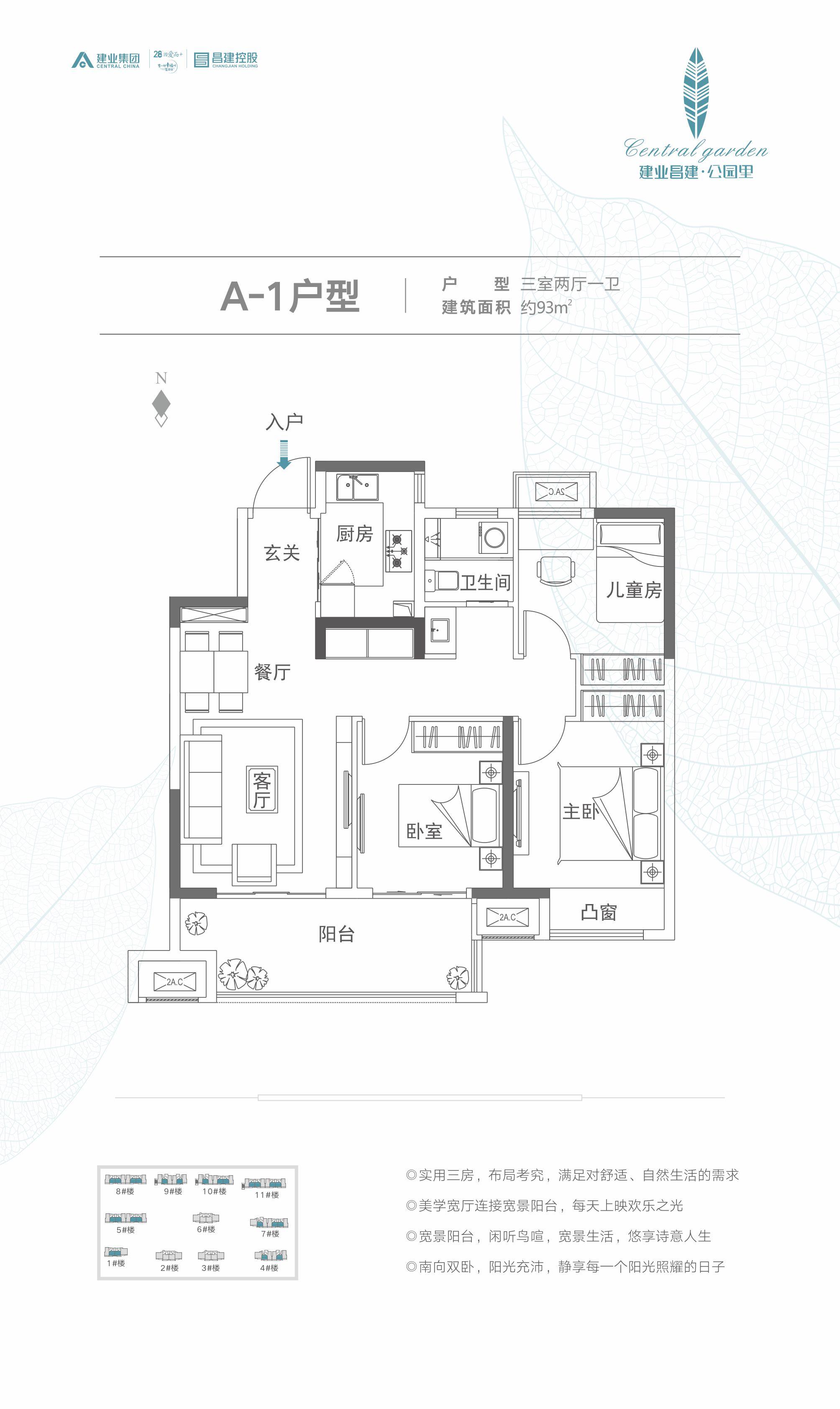 A-1建业昌建·公园里户型图