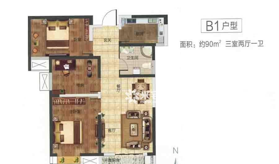 绿都紫荆华庭户型图