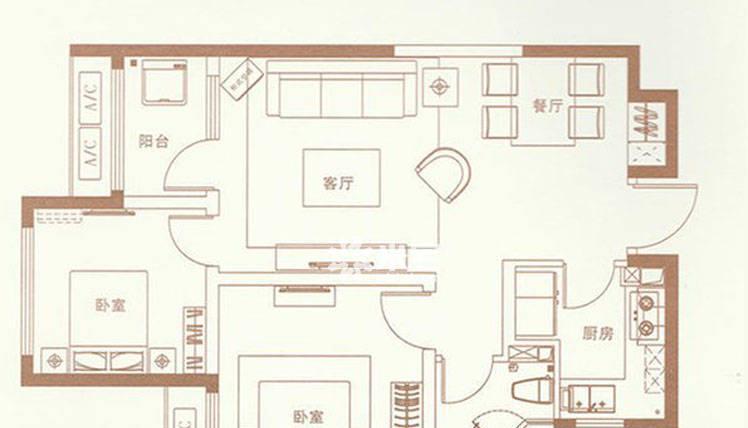 富力建业尚悦居户型图