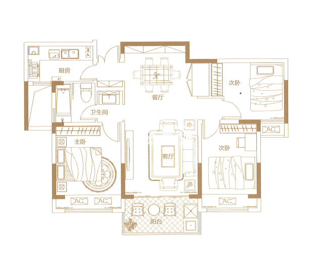 保利文化广场户型图